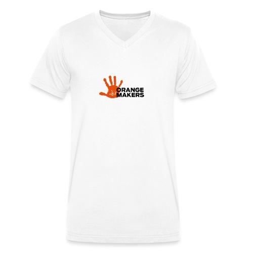 Orange Makers (Sort tekst) - Økologisk Stanley & Stella T-shirt med V-udskæring til herrer