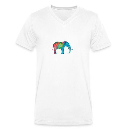 Elefant - Men's Organic V-Neck T-Shirt by Stanley & Stella