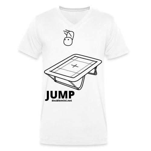 Trampoline JUMP shirt white - Men's Organic V-Neck T-Shirt by Stanley & Stella