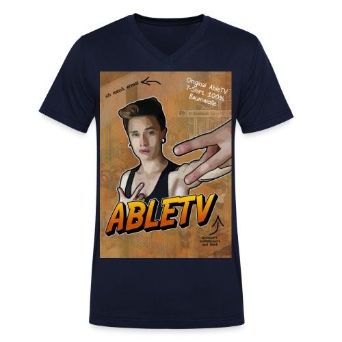 Able Jones jpg - Männer Bio-T-Shirt mit V-Ausschnitt von Stanley & Stella