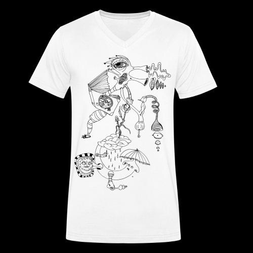 subconscientes colectivos II - Camiseta ecológica hombre con cuello de pico de Stanley & Stella