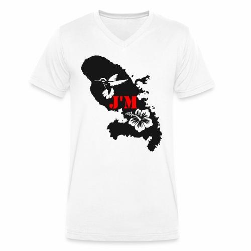 J'M La Martinique - T-shirt bio col V Stanley & Stella Homme
