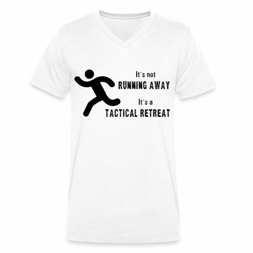 Tactical Retreat - Men's Organic V-Neck T-Shirt by Stanley & Stella