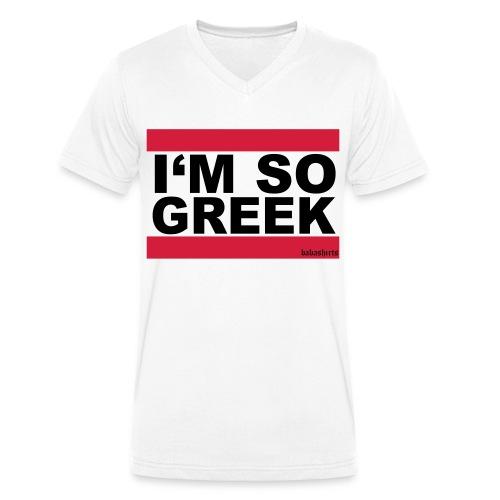 imso greek - Männer Bio-T-Shirt mit V-Ausschnitt von Stanley & Stella