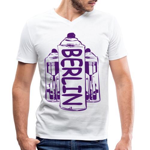 Berlin Power - Männer Bio-T-Shirt mit V-Ausschnitt von Stanley & Stella