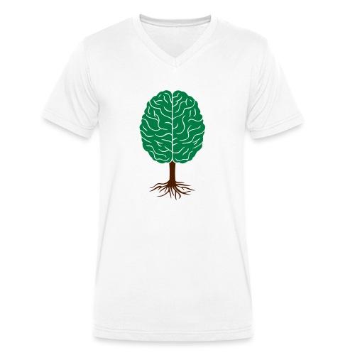 Brain tree - Mannen bio T-shirt met V-hals van Stanley & Stella