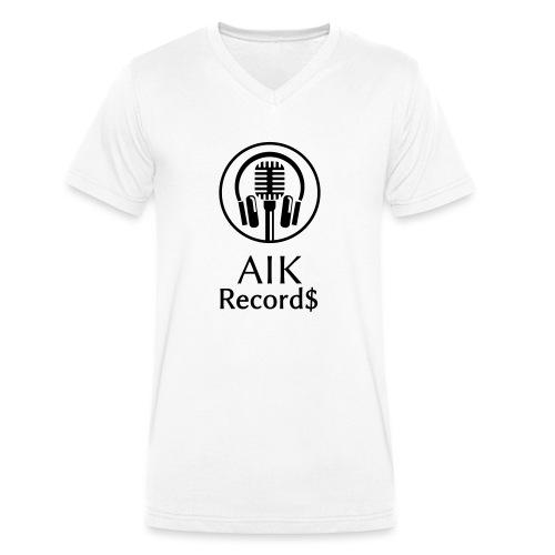 AiK Logo - Männer Bio-T-Shirt mit V-Ausschnitt von Stanley & Stella