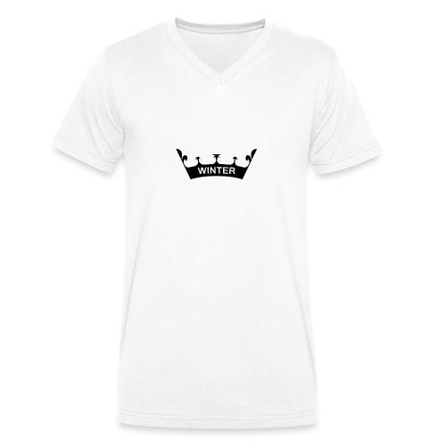 winter_crown - Männer Bio-T-Shirt mit V-Ausschnitt von Stanley & Stella