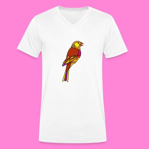 Geelgors illustratie - Mannen bio T-shirt met V-hals van Stanley & Stella