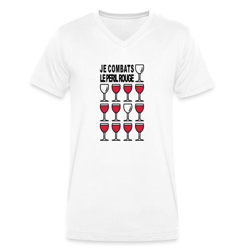 Le peril rouge ! - T-shirt bio col V Stanley & Stella Homme