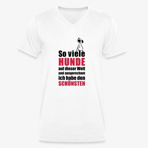 Der schönste HUND - Männer Bio-T-Shirt mit V-Ausschnitt von Stanley & Stella