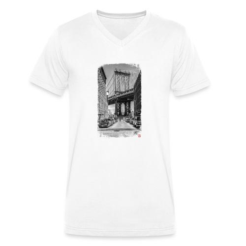 Manhattan Bridge - T-shirt bio col V Stanley & Stella Homme