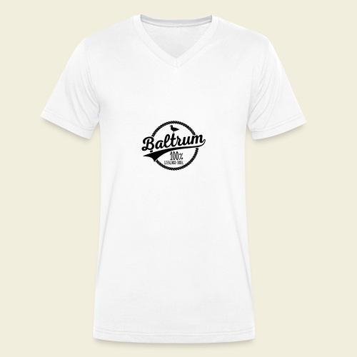 Lieblingsinsel Baltrum - Männer Bio-T-Shirt mit V-Ausschnitt von Stanley & Stella