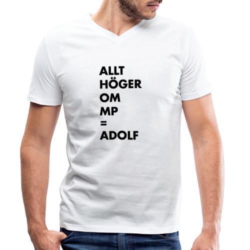 Allt höger om MP = Adolf - Ekologisk T-shirt med V-ringning herr från Stanley & Stella