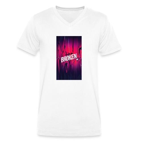 Broken T-Shirt - Männer Bio-T-Shirt mit V-Ausschnitt von Stanley & Stella