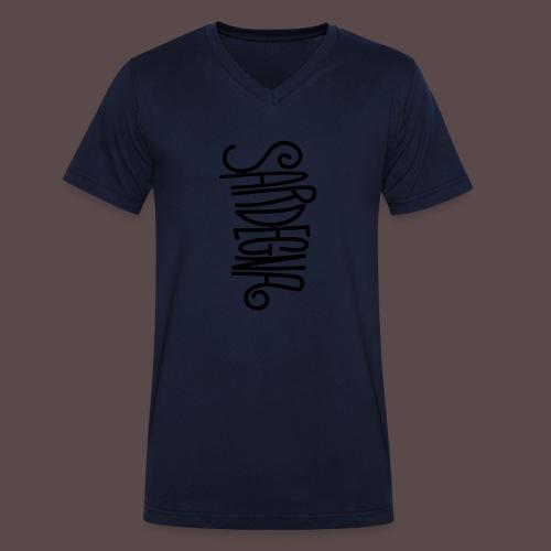 Sardegna Calligrafica - T-shirt ecologica da uomo con scollo a V di Stanley & Stella