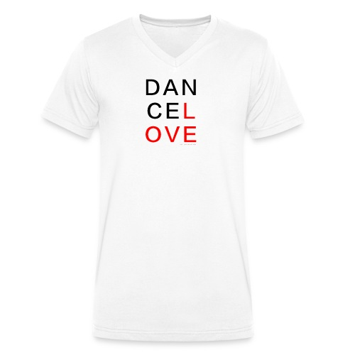dancelove - Männer Bio-T-Shirt mit V-Ausschnitt von Stanley & Stella