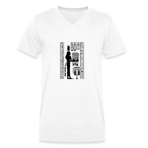 Ägyptische Hierogylphen - Männer Bio-T-Shirt mit V-Ausschnitt von Stanley & Stella