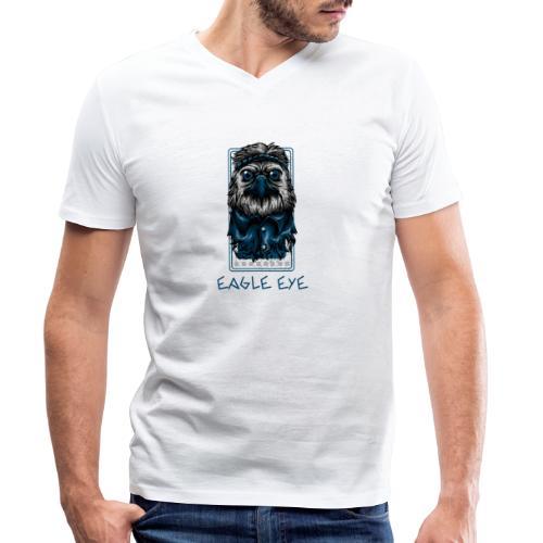 Eagle Eye - Männer Bio-T-Shirt mit V-Ausschnitt von Stanley & Stella