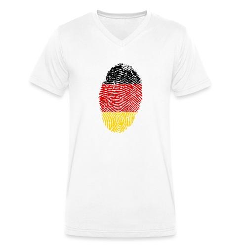 GERMANY FINGERPRINT - Men's Organic V-Neck T-Shirt by Stanley & Stella