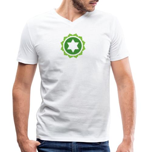 The Heart Chakra, Energy Center Of The Body - Men's Organic V-Neck T-Shirt by Stanley & Stella