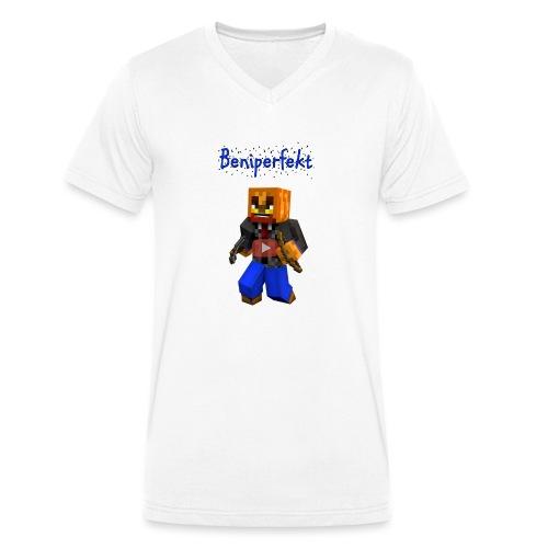 Beniperfekt T-Shirt für Männer - Männer Bio-T-Shirt mit V-Ausschnitt von Stanley & Stella