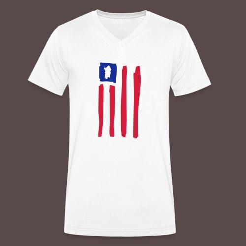 United States of Sardegna - verticale - T-shirt ecologica da uomo con scollo a V di Stanley & Stella