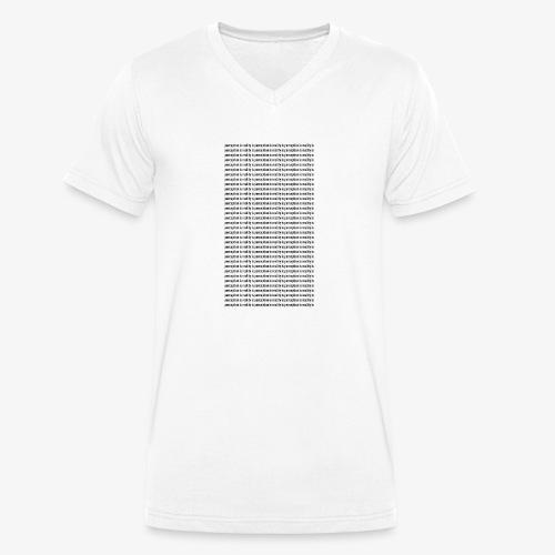 perception - Ekologiczna koszulka męska z dekoltem w serek Stanley & Stella