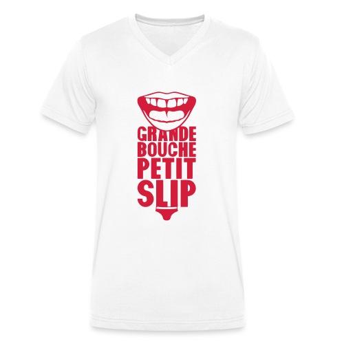 grande bouche petit slip expression 20 - T-shirt bio col V Stanley & Stella Homme