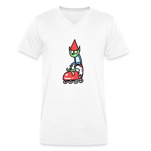 El gnomo en el patín - Camiseta ecológica hombre con cuello de pico de Stanley & Stella