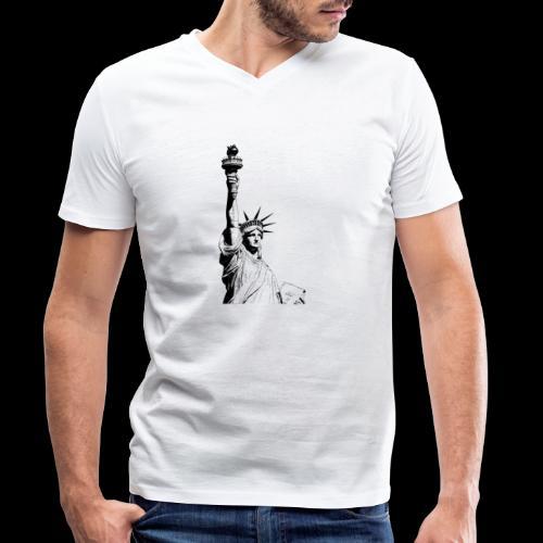 Freedom - Männer Bio-T-Shirt mit V-Ausschnitt von Stanley & Stella