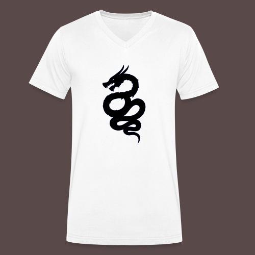 Biscione Drago - T-shirt ecologica da uomo con scollo a V di Stanley & Stella