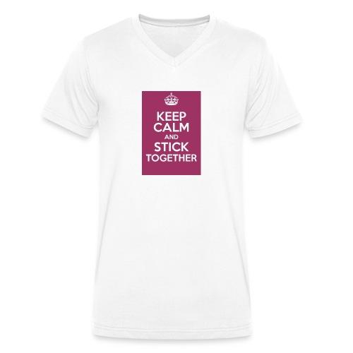 Keep calm! - Men's Organic V-Neck T-Shirt by Stanley & Stella