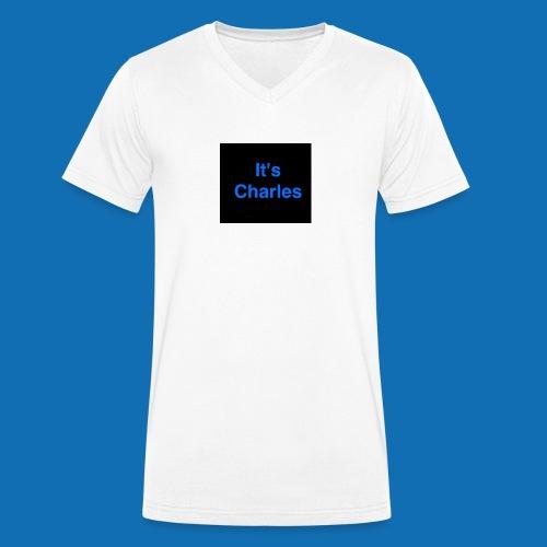 It's Charles - Men's Organic V-Neck T-Shirt by Stanley & Stella