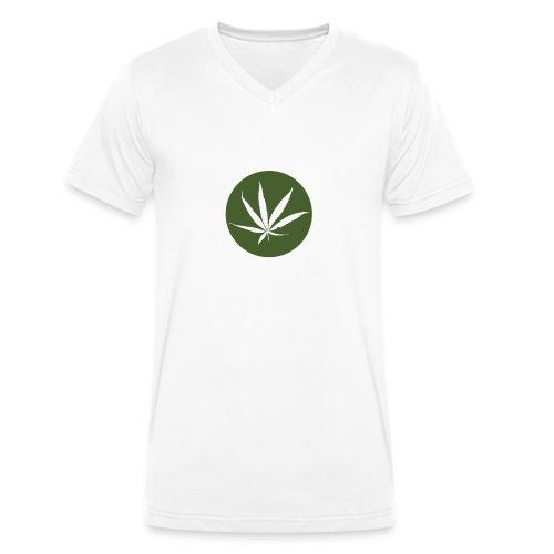 weedlogo - Mannen bio T-shirt met V-hals van Stanley & Stella