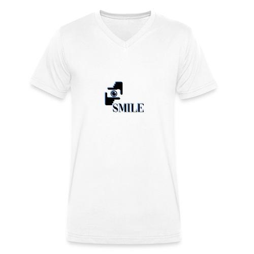 Smile - T-shirt bio col V Stanley & Stella Homme