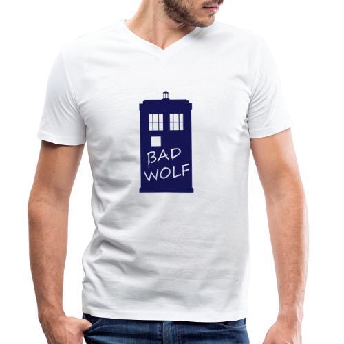 Bad Wolf Tardis - T-shirt bio col V Stanley & Stella Homme