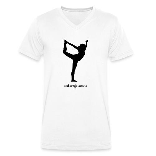 Yoga Nataraja Asana - Männer Bio-T-Shirt mit V-Ausschnitt von Stanley & Stella