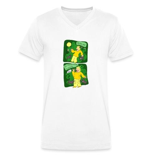 Katzenhaare - Männer Bio-T-Shirt mit V-Ausschnitt von Stanley & Stella
