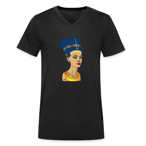 Nofretete - Die Schöne, die da kommt - Männer Bio-T-Shirt mit V-Ausschnitt von Stanley & Stella