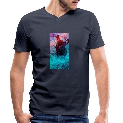 Sweet Frenchie - Männer Bio-T-Shirt mit V-Ausschnitt von Stanley & Stella