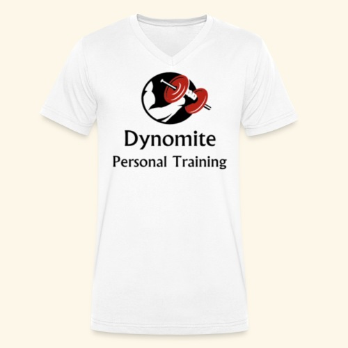 Dynomite Personal Training - Men's Organic V-Neck T-Shirt by Stanley & Stella