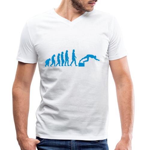 SWIMMER'S EVOLUTION - T-shirt ecologica da uomo con scollo a V di Stanley & Stella