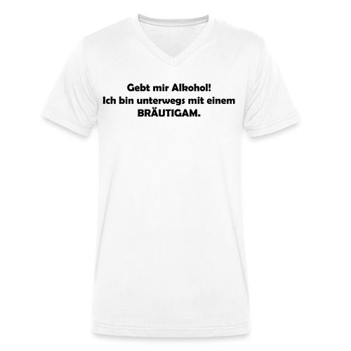 Unterwegs mit Bräutigam - Männer Bio-T-Shirt mit V-Ausschnitt von Stanley & Stella