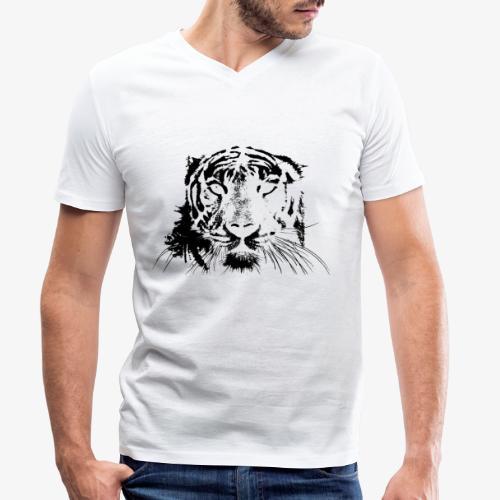 BLACK TIGER - Camiseta ecológica hombre con cuello de pico de Stanley & Stella