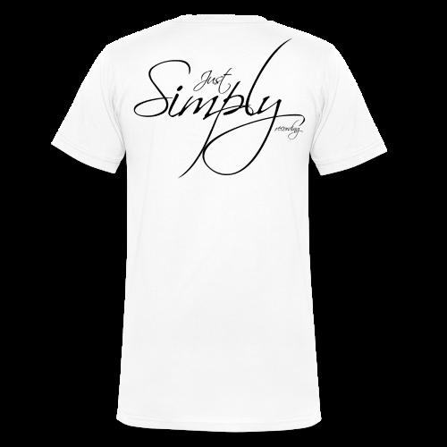 Just Simply Logo black // back - Männer Bio-T-Shirt mit V-Ausschnitt von Stanley & Stella