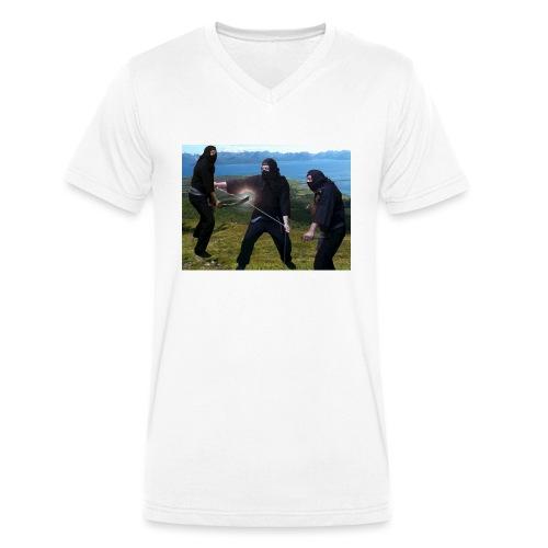 Chasvag ninja - Økologisk T-skjorte med V-hals for menn fra Stanley & Stella