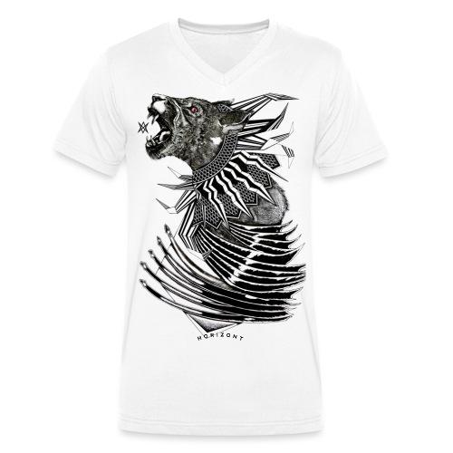 wolffull png - Männer Bio-T-Shirt mit V-Ausschnitt von Stanley & Stella