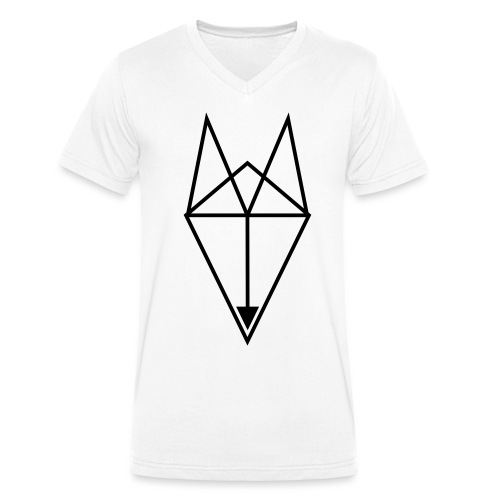 Fox Triangle - Men's Organic V-Neck T-Shirt by Stanley & Stella