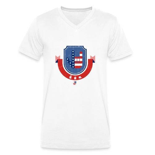 I love you USA - T-shirt bio col V Stanley & Stella Homme